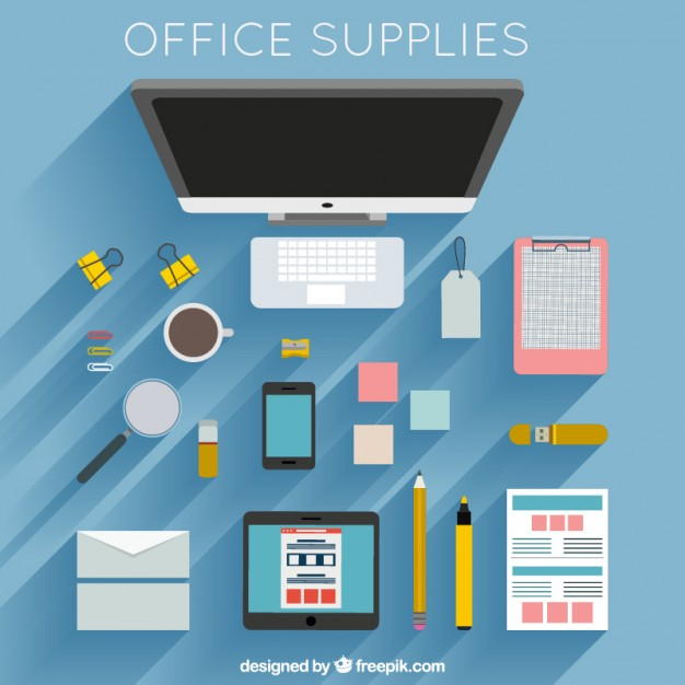 foto office supplies vector