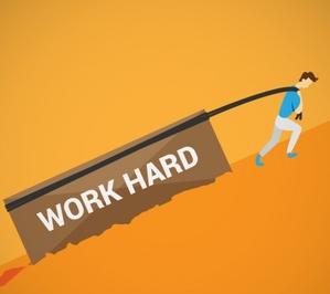 work hard men vector